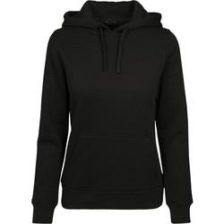 Abbigliamento Donna Felpe Build Your Brand BY087 Nero