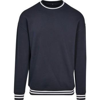 Abbigliamento Uomo Felpe Build Your Brand BY104 Blu navy/Bianco