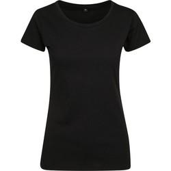 Abbigliamento Donna T-shirt maniche corte Build Your Brand BY086 Nero