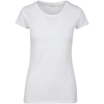 Abbigliamento Donna T-shirt maniche corte Build Your Brand BY086 Bianco