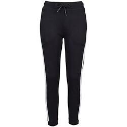Abbigliamento Donna Pantaloni da tuta Build Your Brand BY103 Nero/Bianco