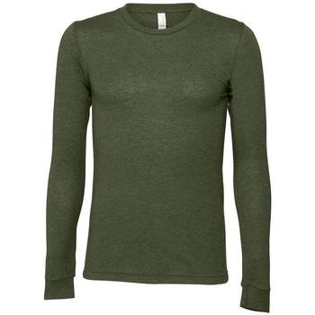 Abbigliamento T-shirts a maniche lunghe Bella + Canvas BE044 Verde
