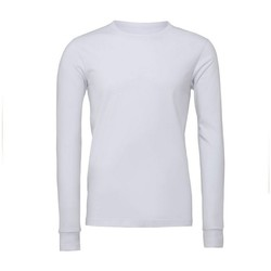 Abbigliamento T-shirts a maniche lunghe Bella + Canvas BE044 Bianco