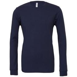 Abbigliamento T-shirts a maniche lunghe Bella + Canvas BE044 Blu navy