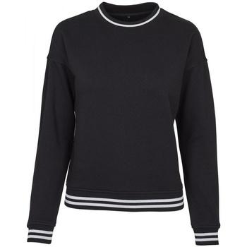 Abbigliamento Donna Felpe Build Your Brand BY105 Nero/Bianco