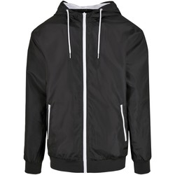 Abbigliamento Uomo Giacche Build Your Brand BY151 Nero/Bianco