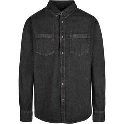 Abbigliamento Uomo Camicie maniche lunghe Build Your Brand BY152 Nero