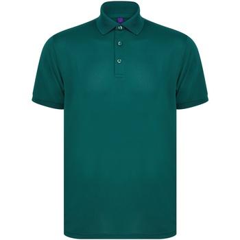 Abbigliamento Polo maniche corte Henbury HB465 Verde bottiglia