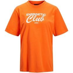Abbigliamento Donna T-shirt maniche corte Jack & Jones T-shirt femme  bea red orange bright white print cali 4