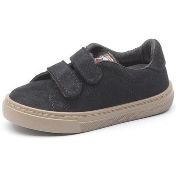Scarpe Bambina Sneakers Cienta Chaussures fille  Deportivo Velcro On Suede noir