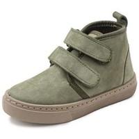 Scarpe Bambina Sneakers alte Cienta Bottines fille  Doble Velcro On Napa vert kaki