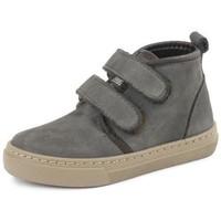 Scarpe Bambina Sneakers alte Cienta Bottines fille  Doble Velcro On Napa gris anthracite