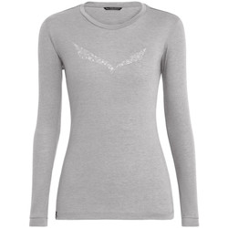 Abbigliamento Donna T-shirts a maniche lunghe Salewa Solidlogo Dry W L/S Tee 27341-0624 grey