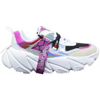 Scarpe Donna Sneakers basse Shop Art Sneakers CUNKY Multibianco Bianco