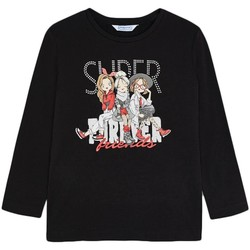 Abbigliamento Bambina T-shirts a maniche lunghe Mayoral  Negro