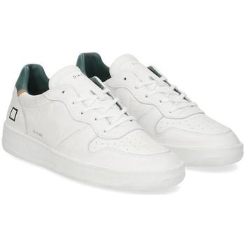 Scarpe Uomo Sneakers basse Date D.A.T.E. Court pure white green BIANCO