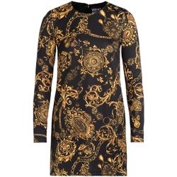 Abbigliamento Donna Abiti corti Versace Jeans Couture Abito  nero con stampa Bijoux Baroque Multicolore