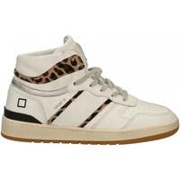 Scarpe Donna Sneakers alte Date SPORT HIGH VINTAGE CALF white-leopard