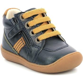 Scarpe Bambina Stivaletti Aster Chaussures fille  Piasap bleu marine/orange clair