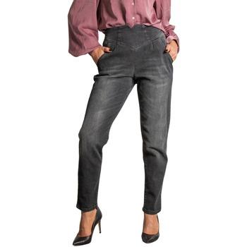 Abbigliamento Donna Jeans slim Sandro Ferrone S10YBBSACHINA Nero