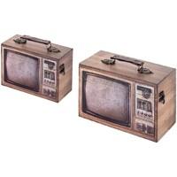 Casa Bauli, scatole di immagazzinaggio Signes Grimalt Telebox Set 2 U Marrón