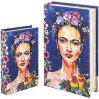 Casa Bauli, scatole di immagazzinaggio Signes Grimalt Scatola Del Libro Set 2 U Azul