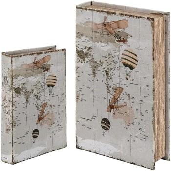 Casa Bauli, scatole di immagazzinaggio Signes Grimalt Scatola Del Libro Set 2 U Blanco
