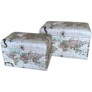 Casa Bauli, scatole di immagazzinaggio Signes Grimalt Set 2 Tronchi Blanco