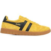 Scarpe Uomo Sneakers basse Gola Hurricane Suede Giallo