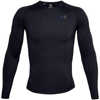 Abbigliamento Uomo T-shirts a maniche lunghe Under Armour Rush Heatgear 2.0 Compression Long Sleeve Noir
