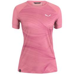 Abbigliamento Donna T-shirt maniche corte Salewa Koszulka  Seceda Dry W 28070-6570 pink