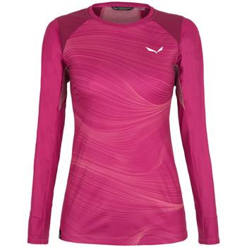 Abbigliamento Donna T-shirts a maniche lunghe Salewa Koszulka  Seceda Dry 28244-6360 red