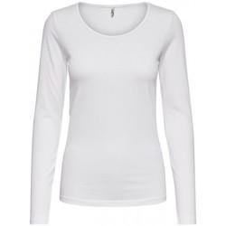 Abbigliamento Donna Top / Blusa Only CAMISETA BASICA MUJER  15204712 Bianco