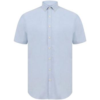 Abbigliamento Uomo Camicie maniche corte Henbury H517S Blu