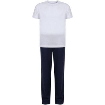 Abbigliamento Bambina Pigiami / camicie da notte Towel City TC59 Bianco/Blu navy