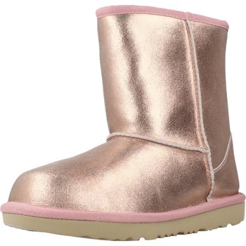 Scarpe Bambina Stivali da neve UGG K CLASSIC II METALLIC Rosa