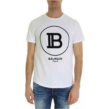 Abbigliamento Uomo T-shirt maniche corte Balmain maniche corte SH01135 I207 - Uomo bianco