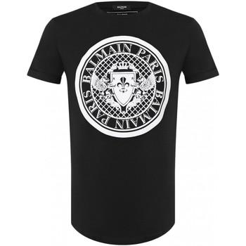 Abbigliamento Uomo T-shirt maniche corte Balmain maniche corte TH11135 I216 - Uomo nero
