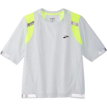 Abbigliamento Donna T-shirt maniche corte Brooks CARBONITE SHORT SLEEVE White