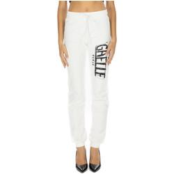 Abbigliamento Donna Pantaloni da tuta GaËlle Paris PANT.FELPA STAMPA bianco