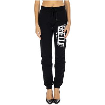 Abbigliamento Donna Pantaloni da tuta GaËlle Paris PANT.FELPA STAMPA nero