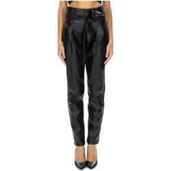 Abbigliamento Donna Pantaloni GaËlle Paris PANT.VITA ALTA ECOPELLE nero