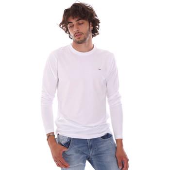 Abbigliamento Uomo T-shirts a maniche lunghe Key Up 2E96B 0001 Bianco