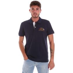 Abbigliamento Uomo Polo maniche corte Key Up 2G96Q 0001 Blu