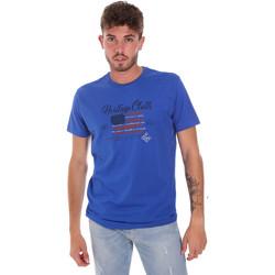 Abbigliamento Uomo T-shirt maniche corte Key Up 2G83S 0001 Blu