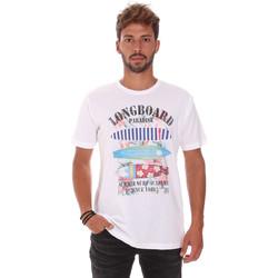 Abbigliamento Uomo T-shirt maniche corte Key Up 2D45S 0001 Bianco
