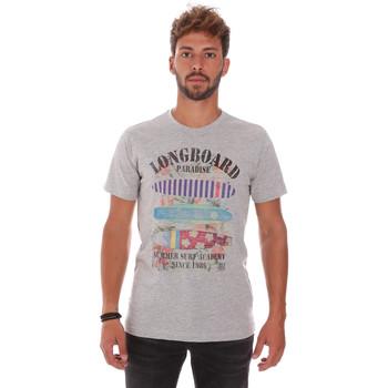 Abbigliamento Uomo T-shirt maniche corte Key Up 2D45S 0001 Grigio