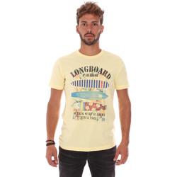 Abbigliamento Uomo T-shirt maniche corte Key Up 2D45S 0001 Giallo