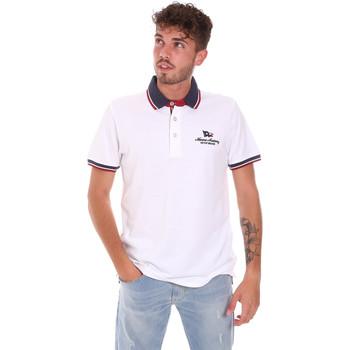 Abbigliamento Uomo Polo maniche corte Key Up 2Q60G 0001 Bianco