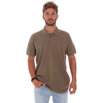 Abbigliamento Uomo Polo maniche corte Key Up 2800Q 0001 Marrone